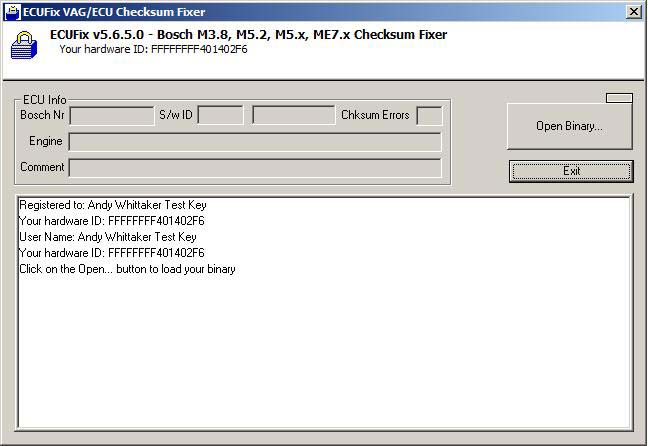 ECUFix The Checksum Fixer - Andy Whittaker