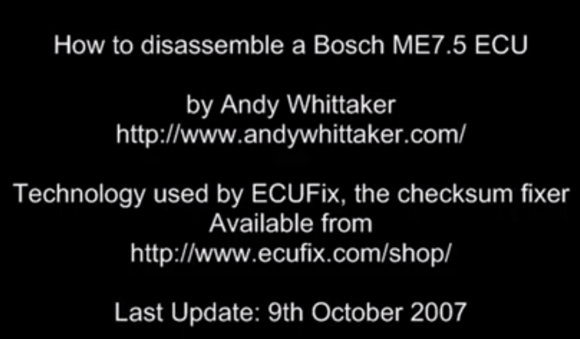 Disassembling a Bosch ME7 55 with IDA Pro - Andy Whittaker